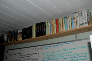 My books. I do have a lot now ...