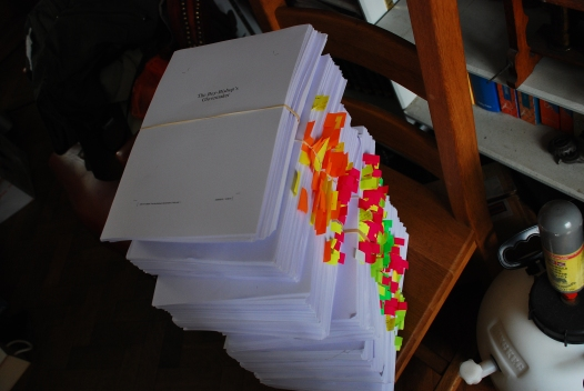 Roughly what an agent or editor will receive every day as a stack of paper to read. Every day!