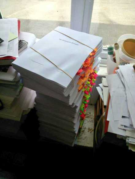 The proofs so far this year. Is it any wonder my eyesight's fading along with my brain?