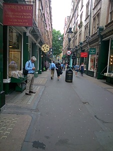 Empty Cecil Court in the afternoon!