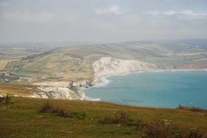 View over Freshwater Cove, Isle of Wight