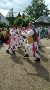 Tinner's Morris dancing outside South Tawton Church for the Folk Festival. Look out for us at Chagford on Thursday!