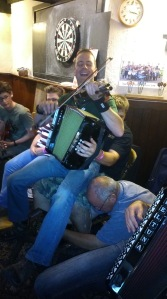 This is what happens when you have a fiddler, melodeon player and Anglo squeezebox with too much beer inside them!