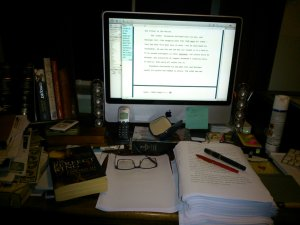 Back to the edit. Look at the size of that manuscript - badly needs slimming down!