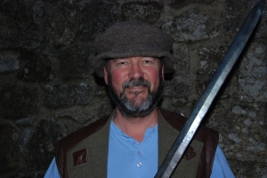 Dangerous man: an author with a sword!