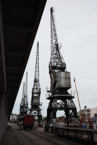 Lovely old cranes and derricks around the quay. You knew what their objectives were!
