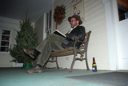 This was supposed to be winter! Midnight outside reading in the balmy South Carolina weather