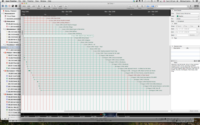An Aeon Timeline screenshot to show how a timeline develops. Simple but very effective!