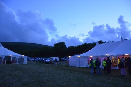 Dartmoor Folk Festival at night
