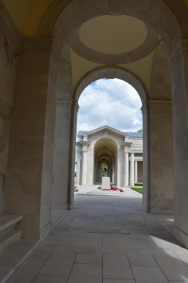 The peaceful memorial at Arras