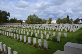 Some of the 2,650 graves at Arras.