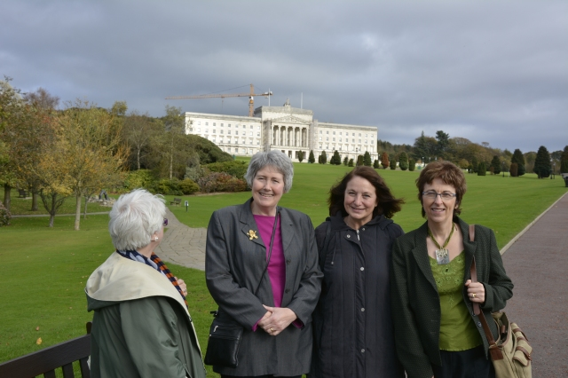 Doing the touristy thing with Jo and Sharon at Stormont