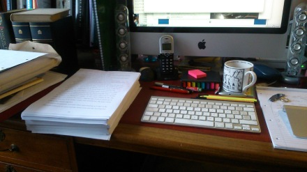 One small pile of paper to edit. Help!
