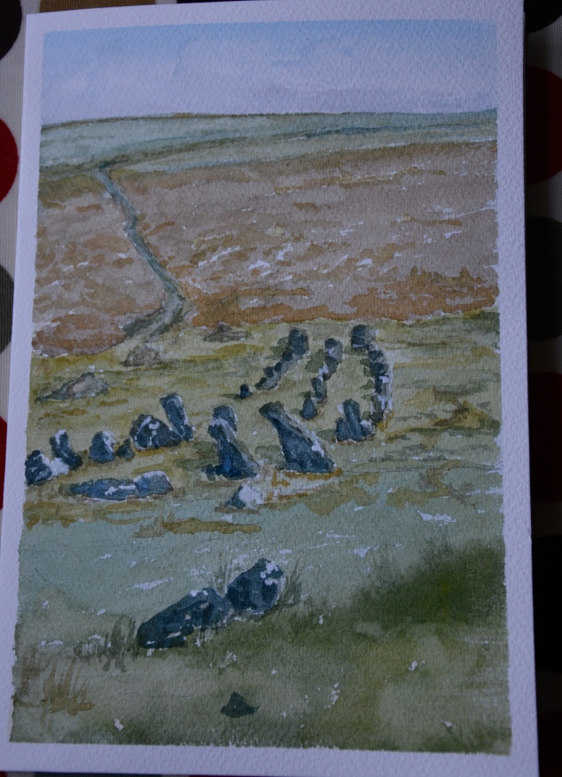 My latest painting: Triple Row at Cawsand Beacon