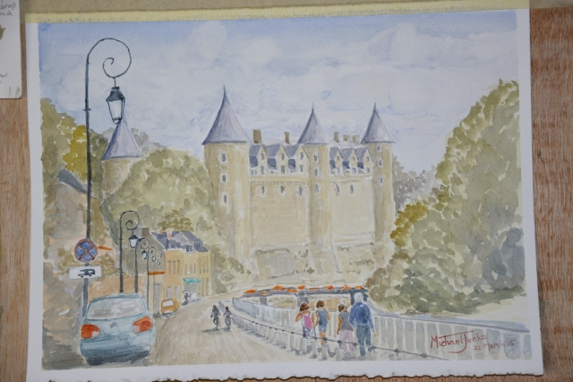 Painting of Josselin Castle, Britanny