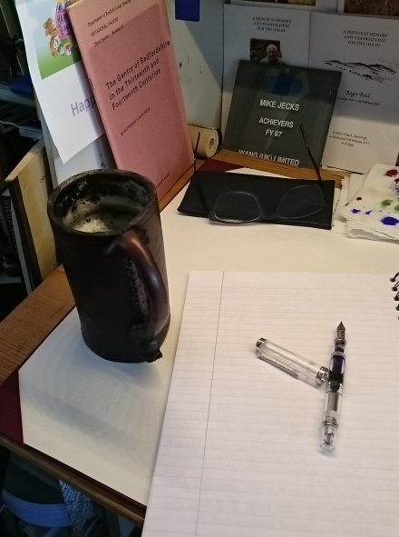Back to work. Pen, paper ... and beer!
