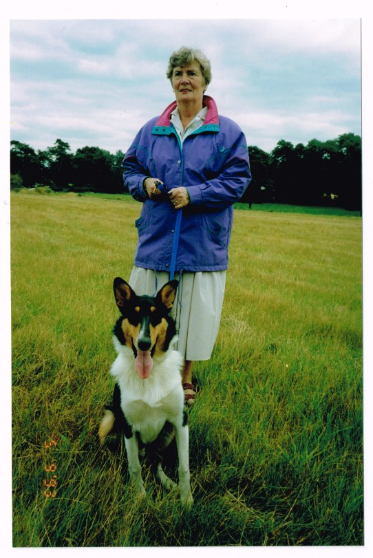 My mother - always with at least one dog!