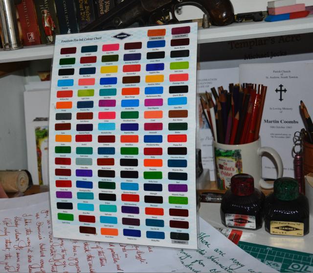 Full range of Diamine's regular inks